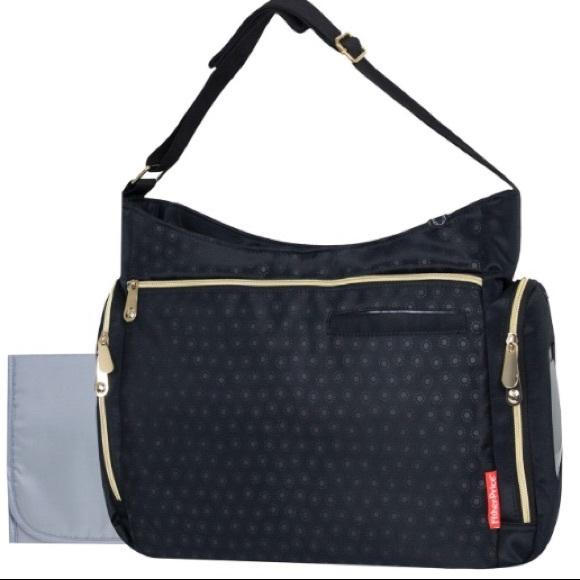 f20af5f122a46 Fisher Price Waverly Hobo Diaper Bag NWT
